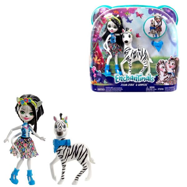 Mattel Enchantimals Zelena Zebra & Hoofette With Animals - 4+ Years FKY72
